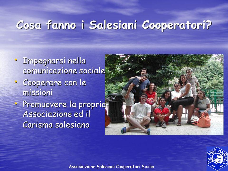 Cosa fanno i Salesiani Cooperatori
