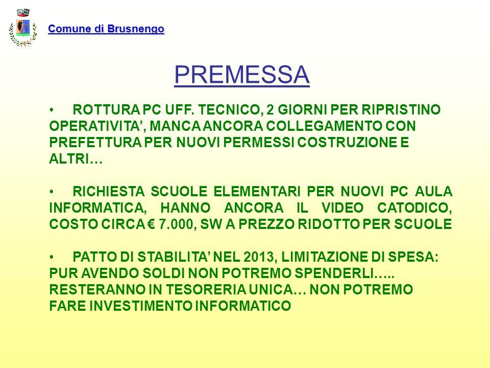 Comune di Brusnengo PREMESSA.