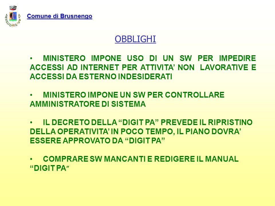 Comune di Brusnengo OBBLIGHI.