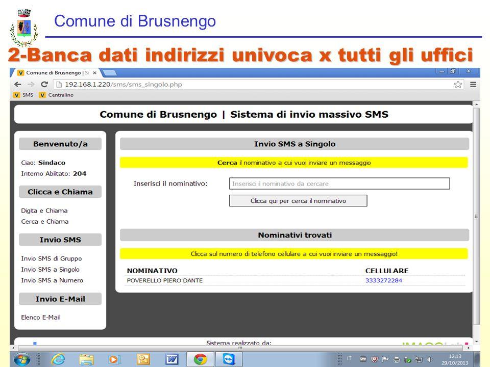 2-Banca dati indirizzi univoca x tutti gli uffici