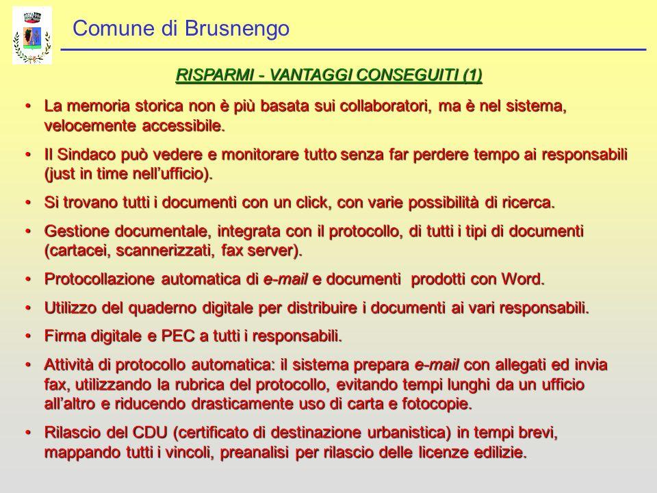 RISPARMI - VANTAGGI CONSEGUITI (1)