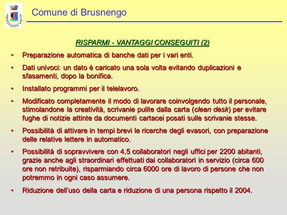 RISPARMI - VANTAGGI CONSEGUITI (2)
