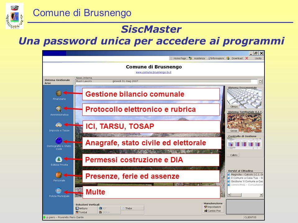 SiscMaster Una password unica per accedere ai programmi