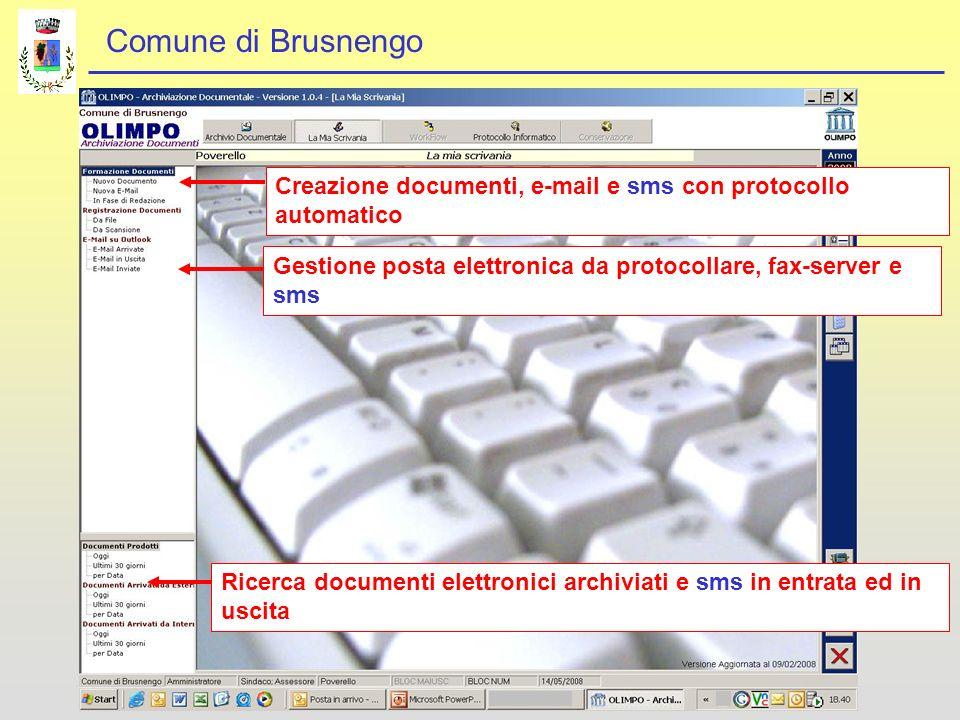 Creazione documenti, e-mail e sms con protocollo automatico