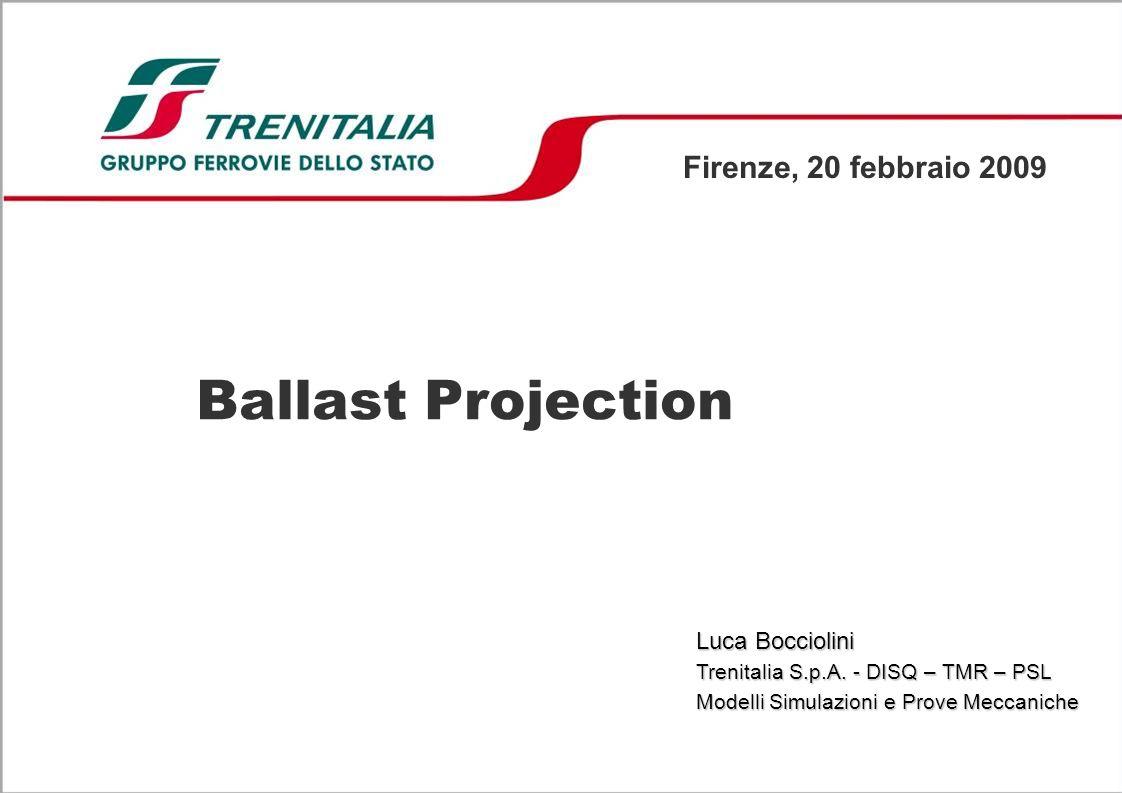 Ballast Projection Firenze, 20 febbraio 2009 Luca Bocciolini