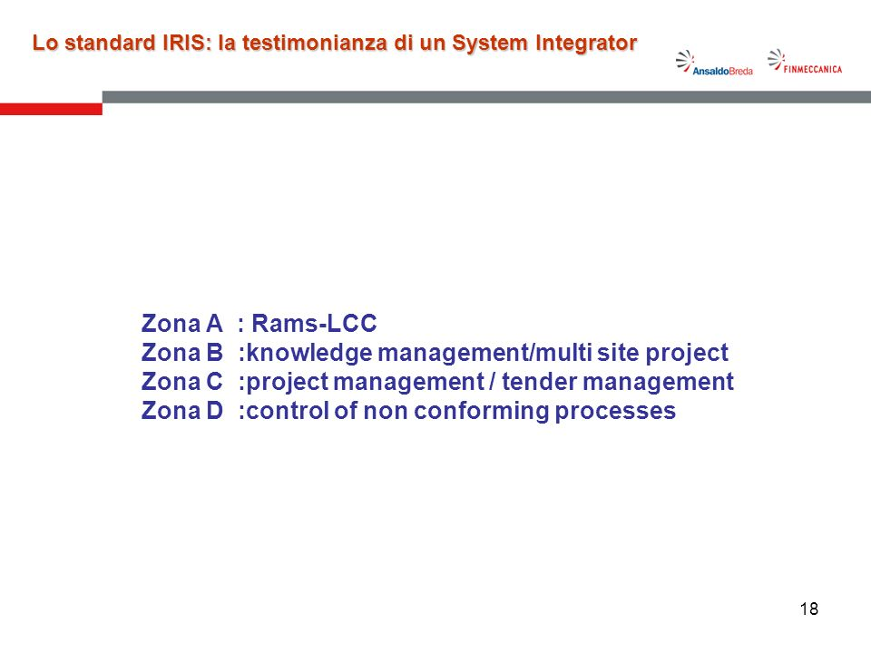 Lo standard IRIS: la testimonianza di un System Integrator