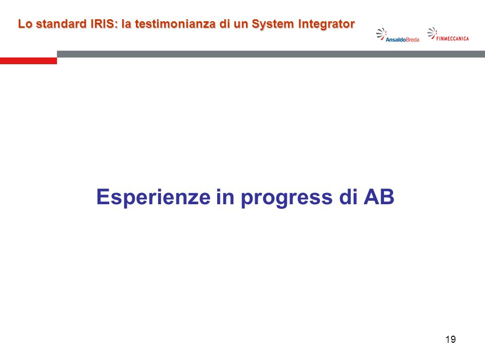 Esperienze in progress di AB