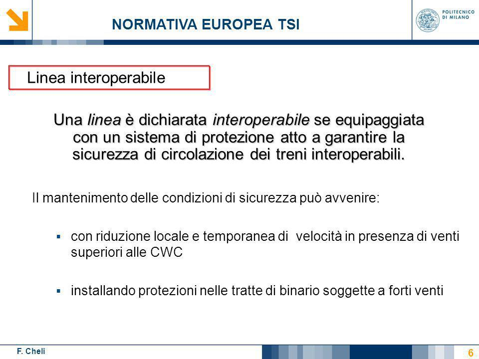 NORMATIVA EUROPEA TSI Linea interoperabile.