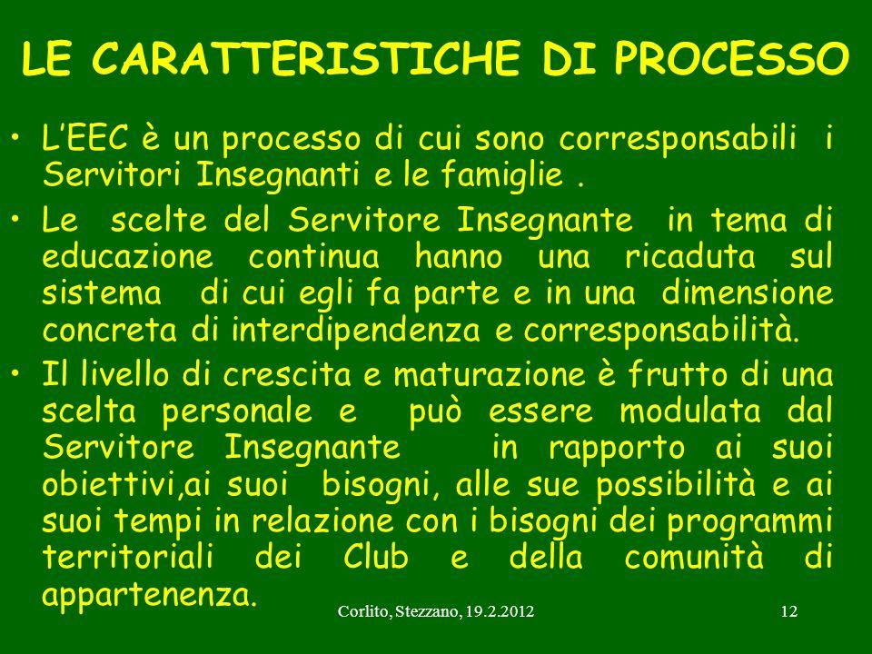 LE CARATTERISTICHE DI PROCESSO