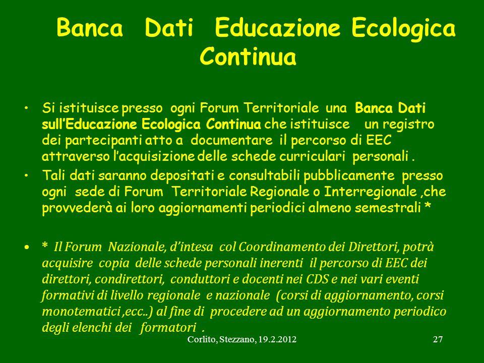 Banca Dati Educazione Ecologica Continua