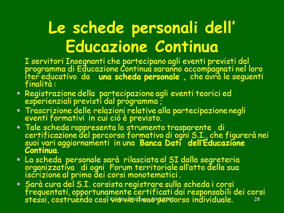 Le schede personali dell' Educazione Continua