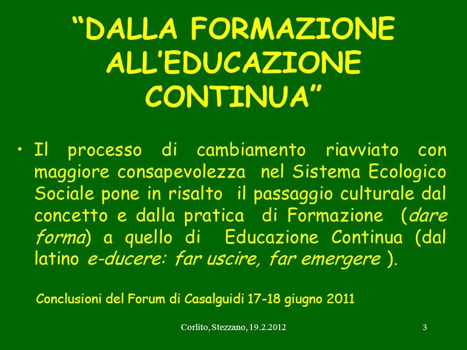DALLA FORMAZIONE ALL'EDUCAZIONE CONTINUA