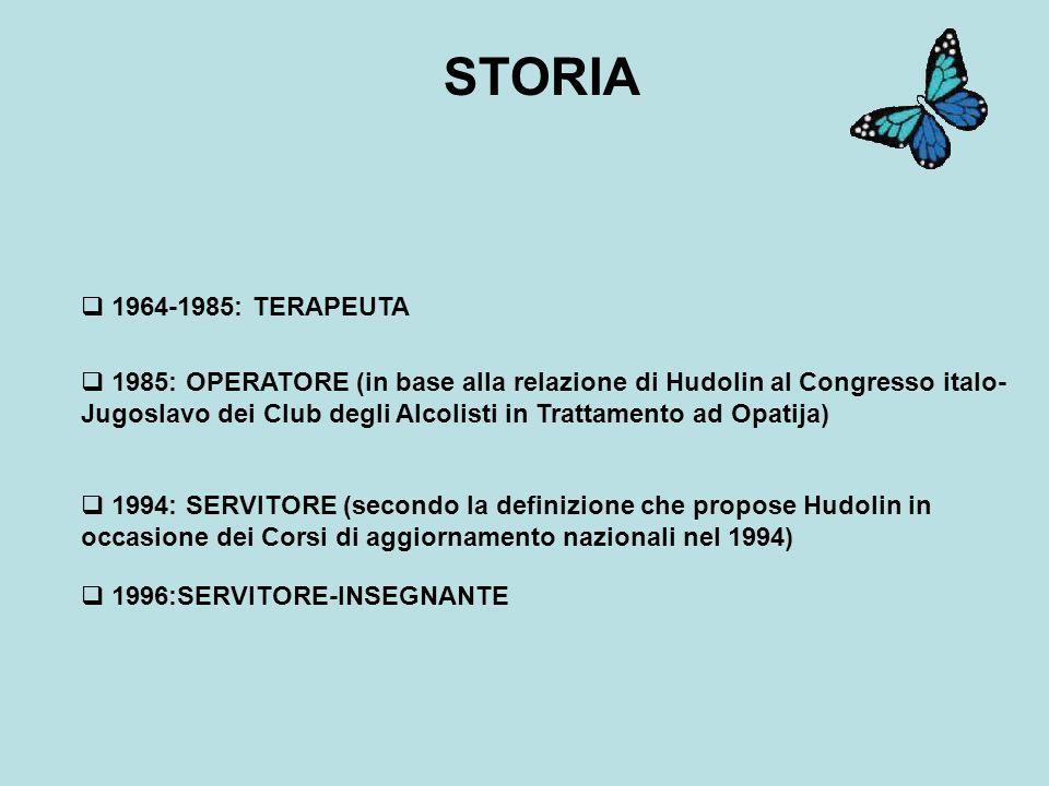 STORIA 1964-1985: TERAPEUTA.