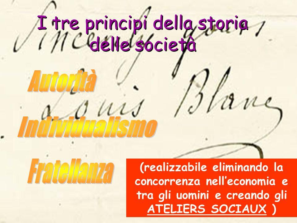 I tre principi della storia delle società