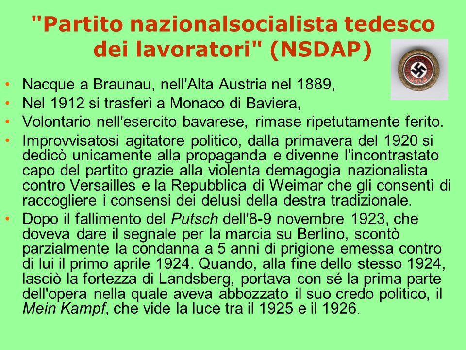 Partito nazionalsocialista tedesco dei lavoratori (NSDAP)