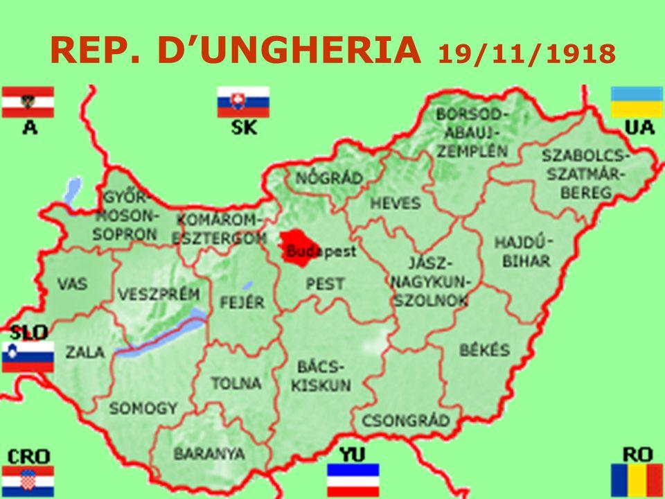 REP. D'UNGHERIA 19/11/1918