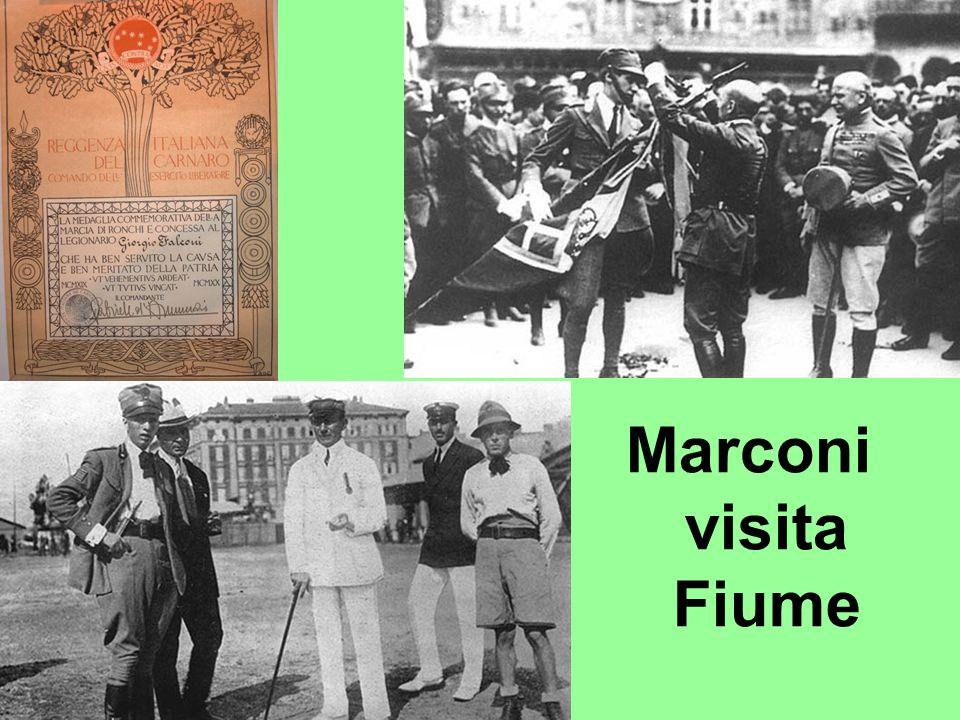 Marconi visita Fiume