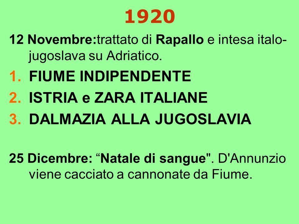 1920 FIUME INDIPENDENTE ISTRIA e ZARA ITALIANE