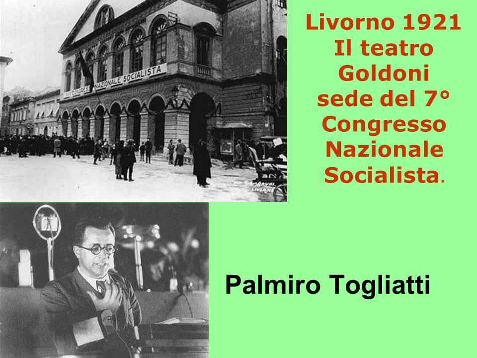 Livorno 1921 Il teatro Goldoni sede del 7° Congresso Nazionale Socialista.