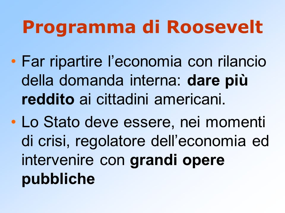 Programma di Roosevelt