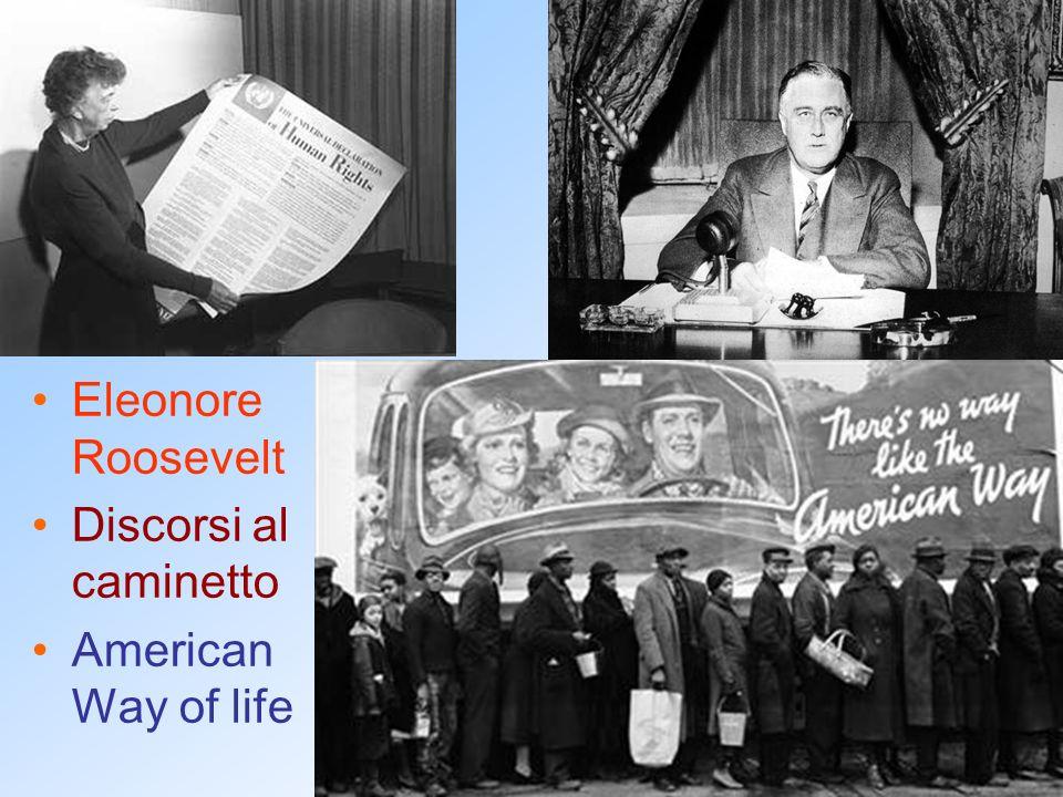 Eleonore Roosevelt Discorsi al caminetto American Way of life