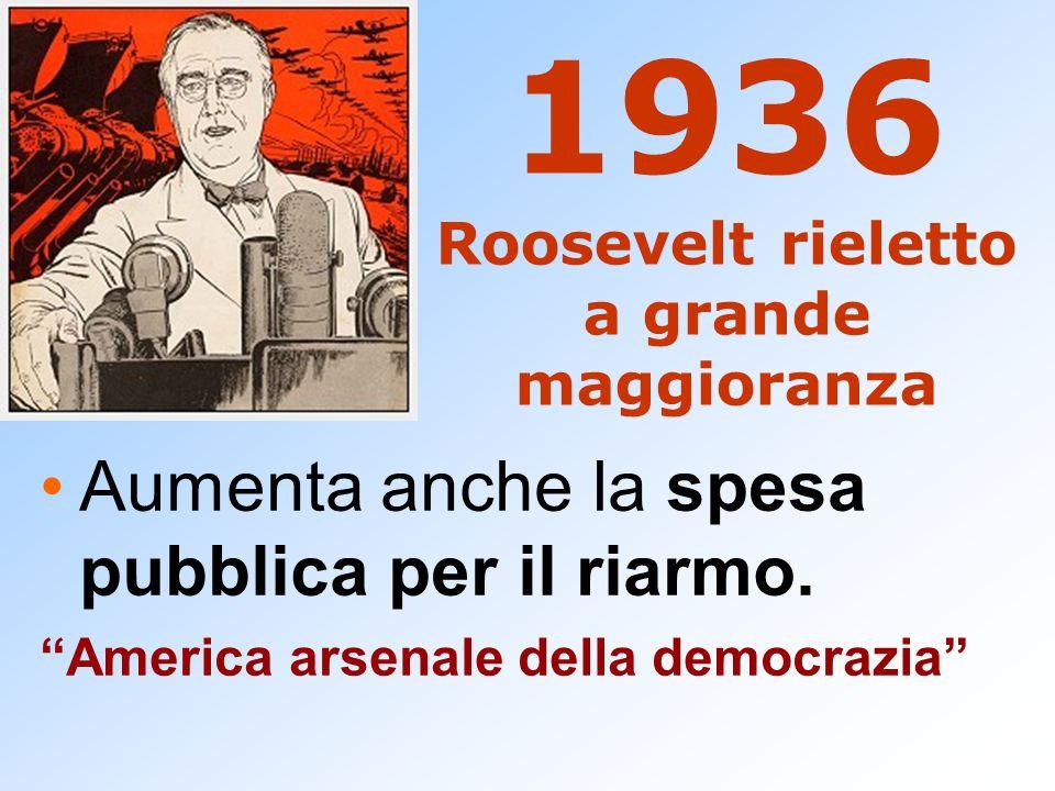 1936 Roosevelt rieletto a grande maggioranza