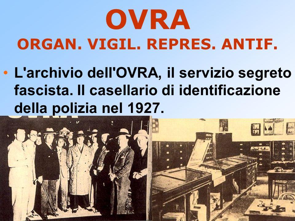 OVRA ORGAN. VIGIL. REPRES. ANTIF.