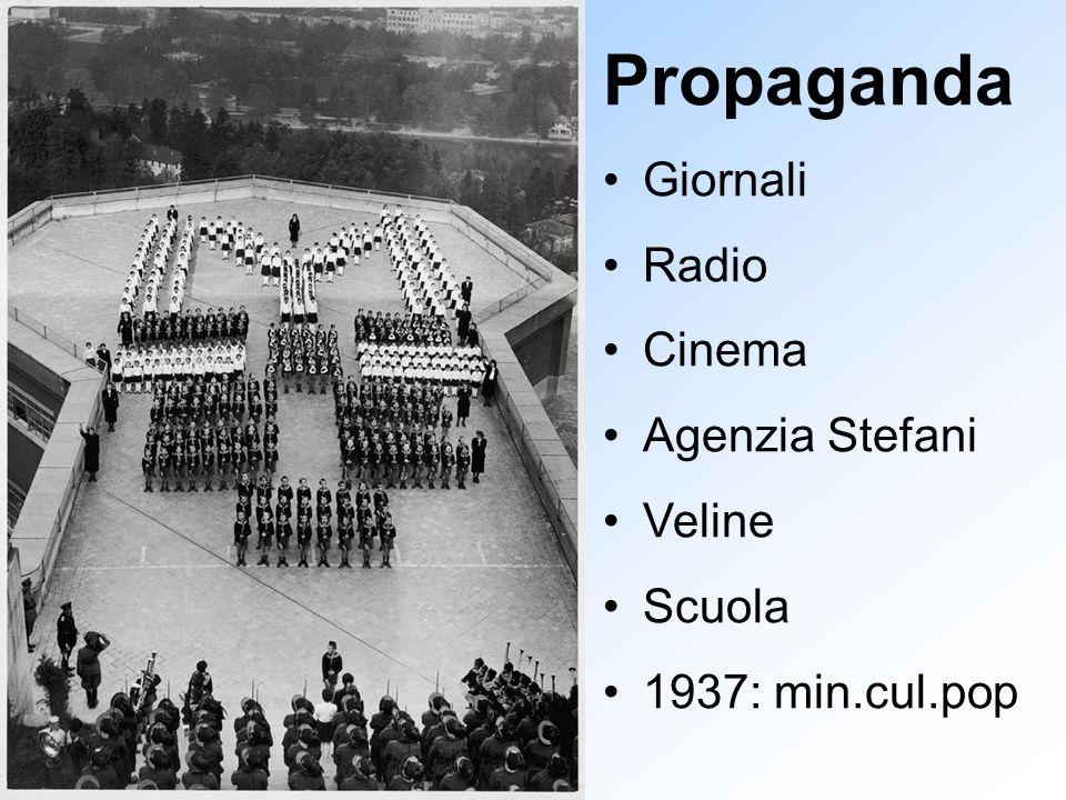 Propaganda Giornali Radio Cinema Agenzia Stefani Veline Scuola