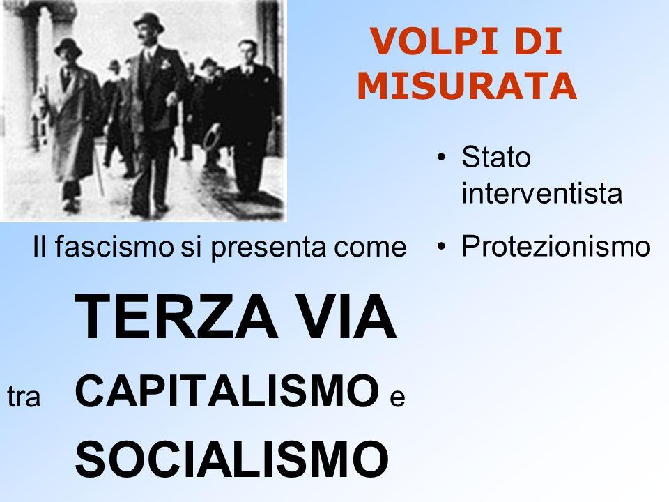 TERZA VIA SOCIALISMO VOLPI DI MISURATA Stato interventista