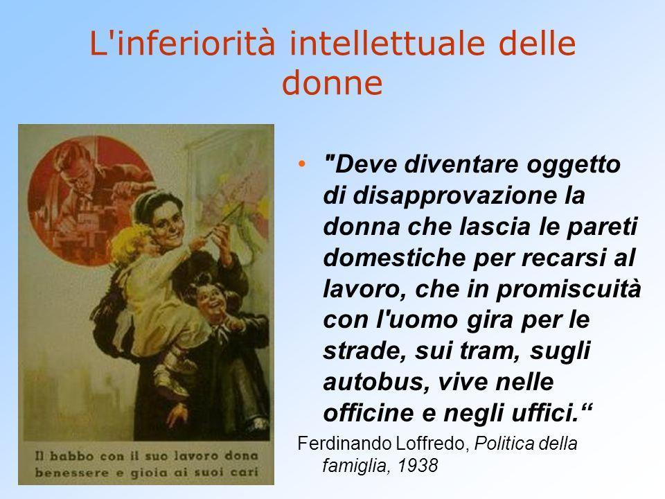 L inferiorità intellettuale delle donne