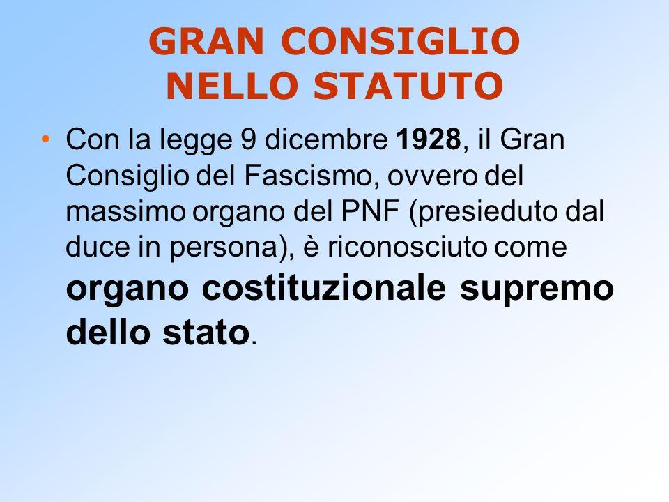 GRAN CONSIGLIO NELLO STATUTO