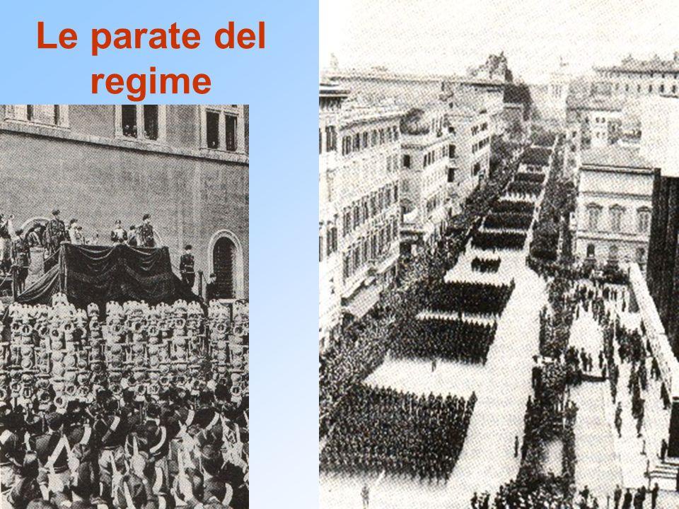 Le parate del regime