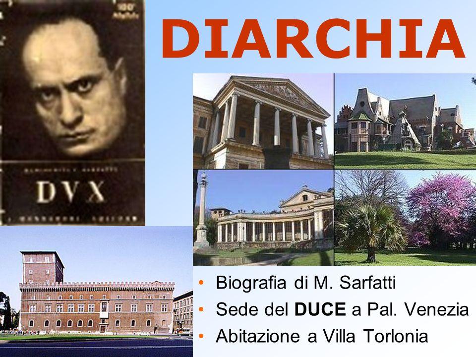 DIARCHIA Biografia di M. Sarfatti Sede del DUCE a Pal. Venezia