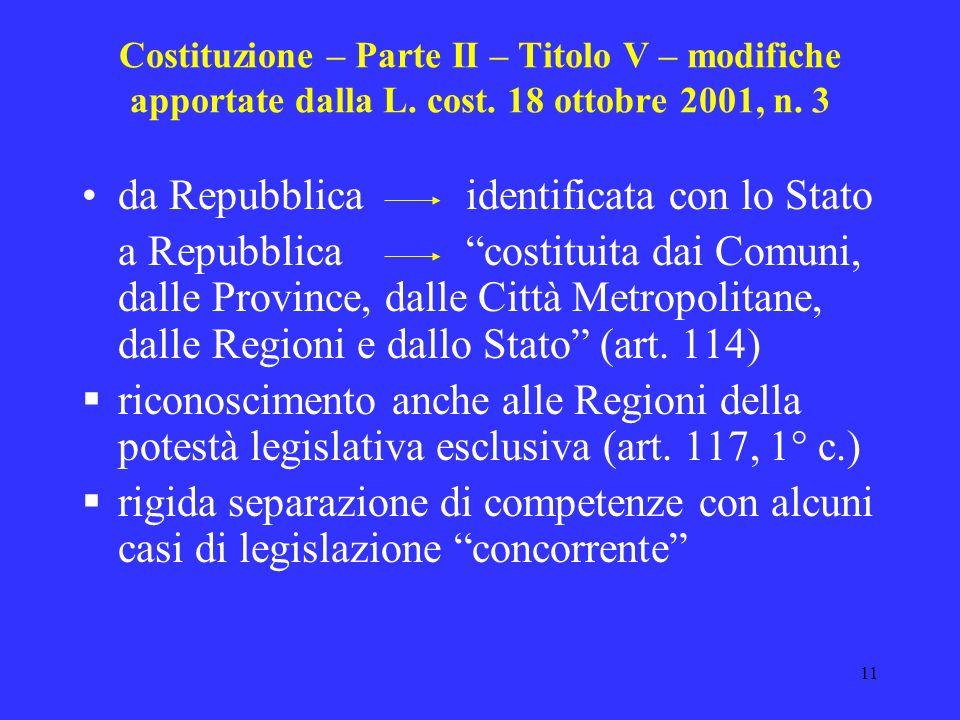 da Repubblica identificata con lo Stato