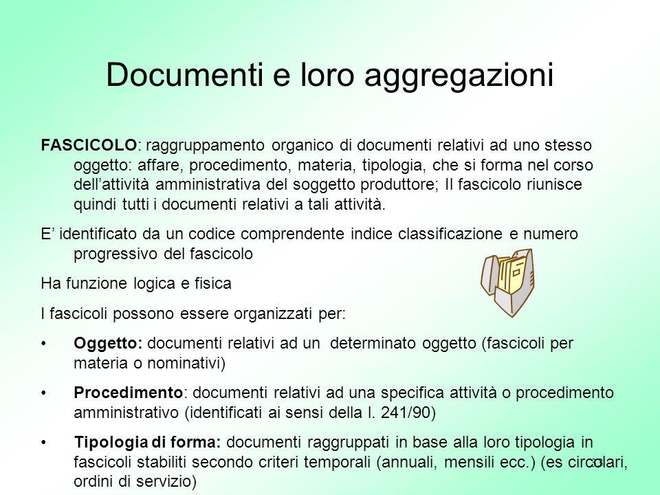 Documenti e loro aggregazioni