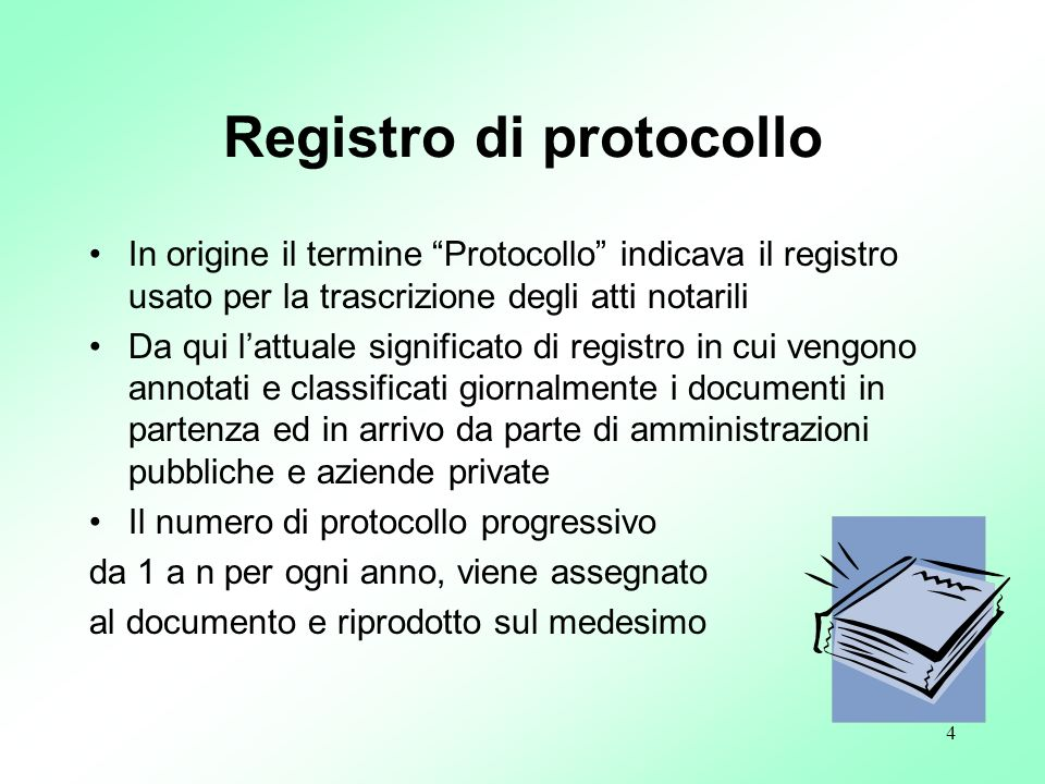 Registro di protocollo