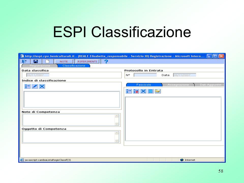 ESPI Classificazione