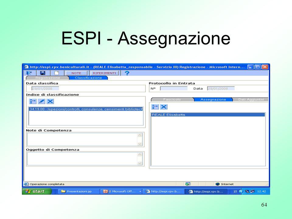 ESPI - Assegnazione