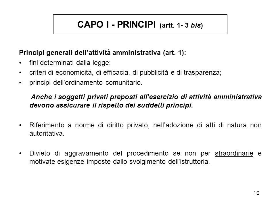CAPO I - PRINCIPI (artt. 1- 3 bis)