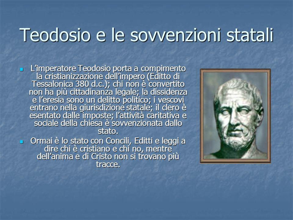 Teodosio e le sovvenzioni statali