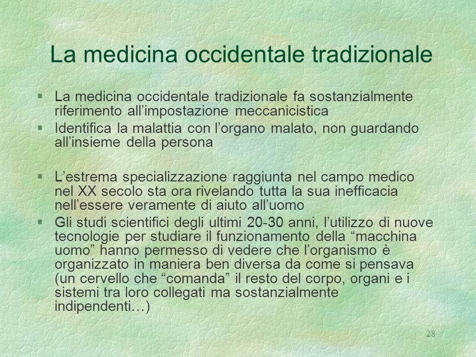 La medicina occidentale tradizionale