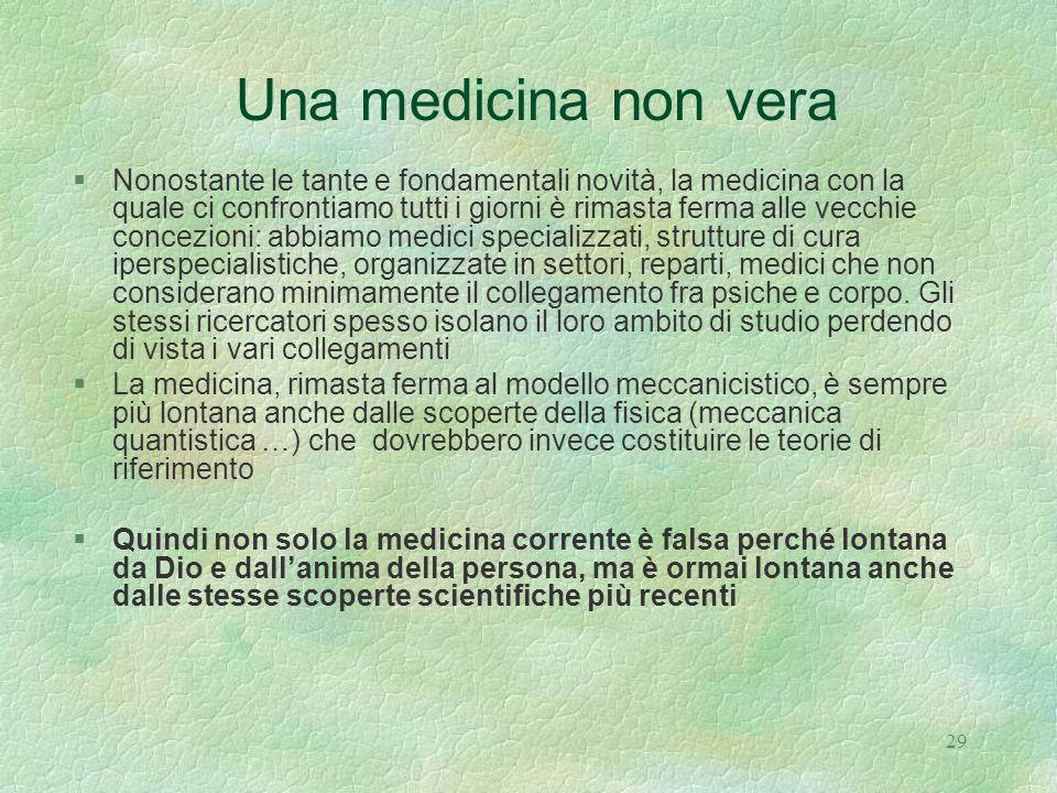 Una medicina non vera