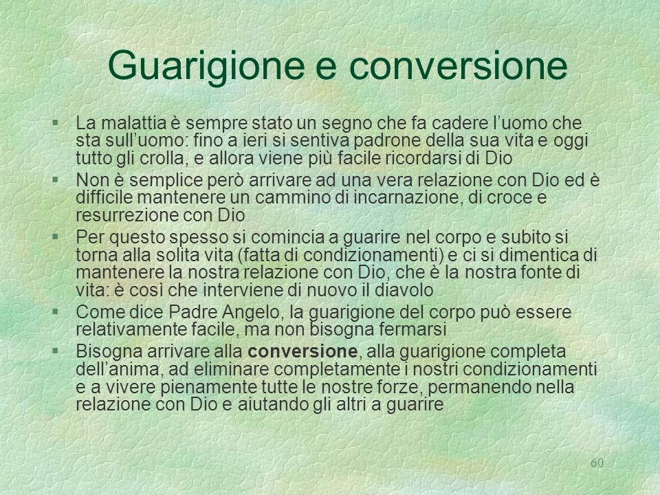 Guarigione e conversione