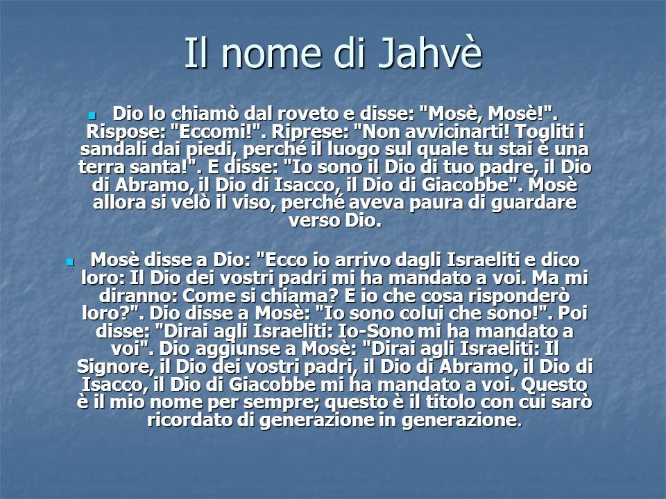 Il nome di Jahvè