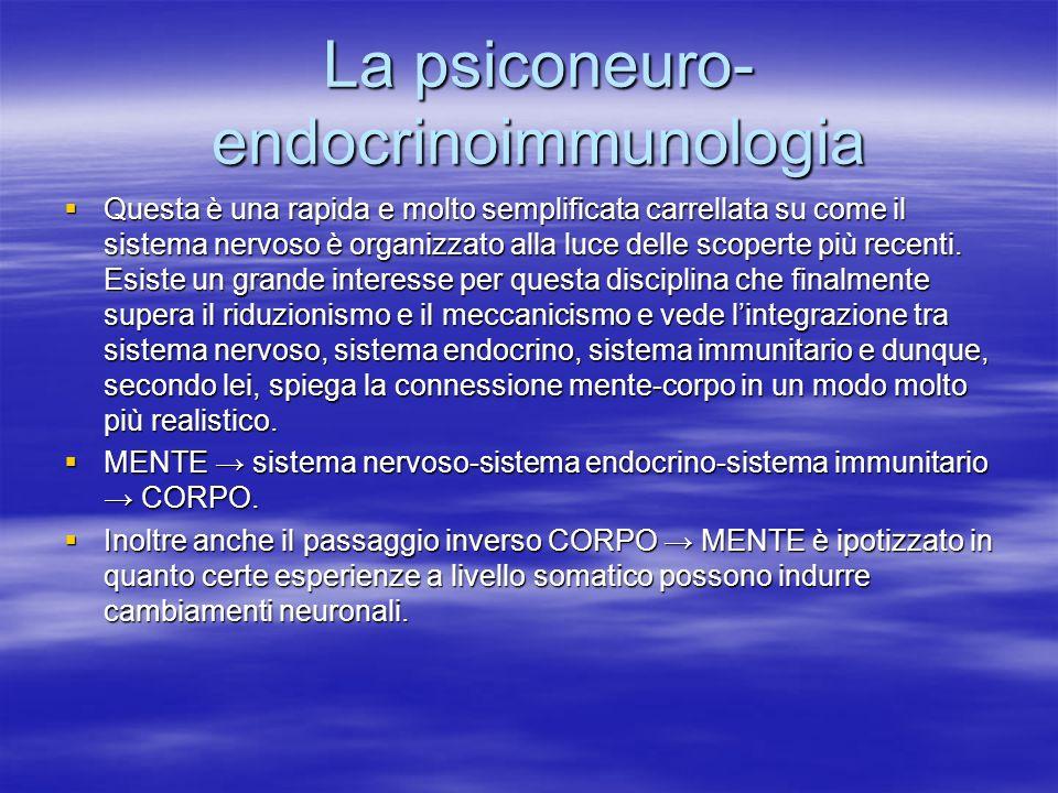 La psiconeuro- endocrinoimmunologia