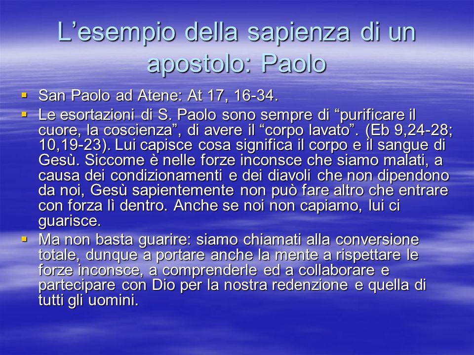 L'esempio della sapienza di un apostolo: Paolo