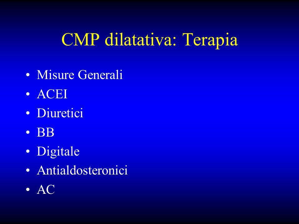 CMP dilatativa: Terapia