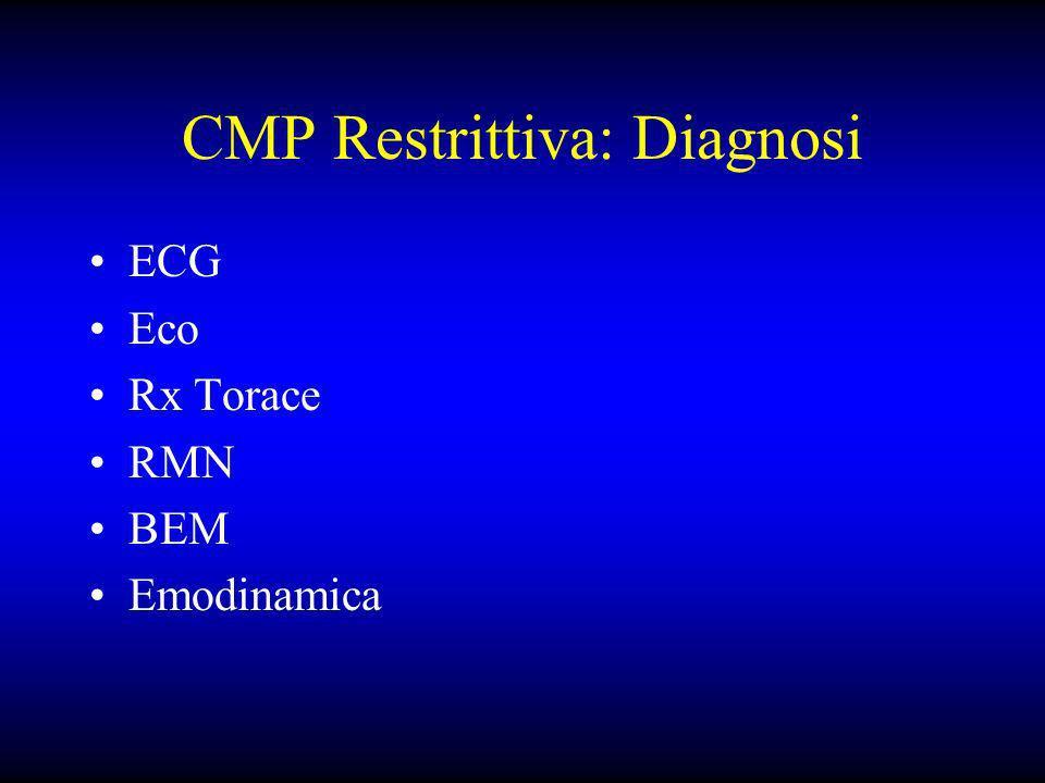 CMP Restrittiva: Diagnosi