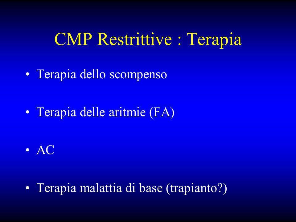 CMP Restrittive : Terapia
