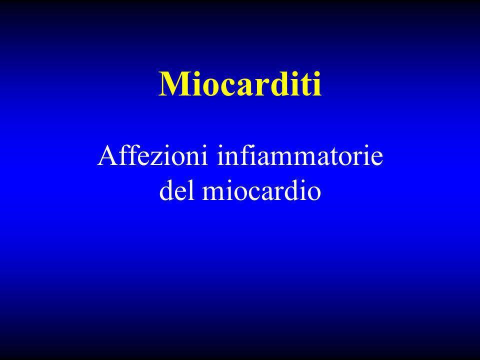 Affezioni infiammatorie del miocardio